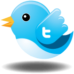 Picture of the Twitter bird with a 't' on its wing