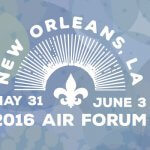 2016 AIR Forum logo with a fleur de lis