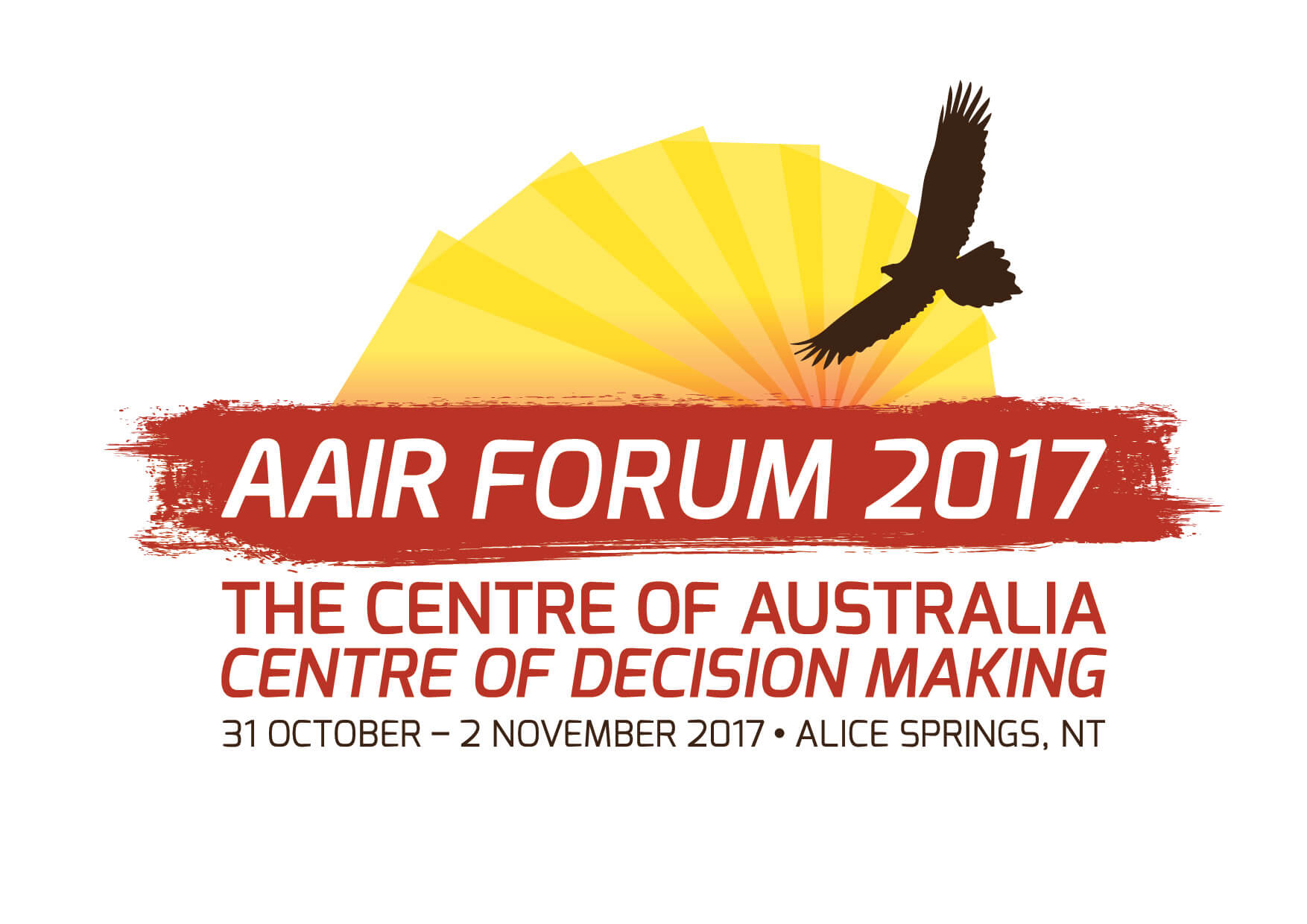 AAIR Forum 2017 logo showing a bird flying through the sun