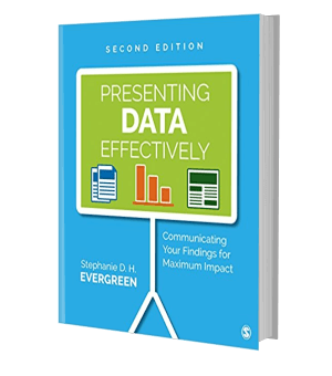 Picture of the front cover of a book: Presenting data effectively