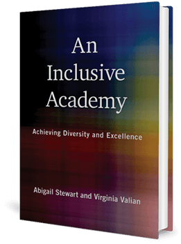 Cover of a book with muted colours with the title, An Inclusive Academy