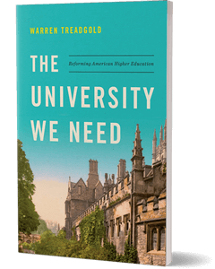 Cover of a book showing an old building, probably a university, with a retro filter over the photo and the title of the book at the top in the sky