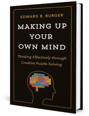 Cover of a book with an outline of a human head with coloured blocks inside