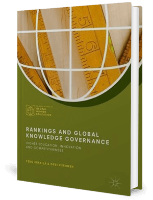 Cover of a book with an outline of a sphere with old wooden rulers inside it