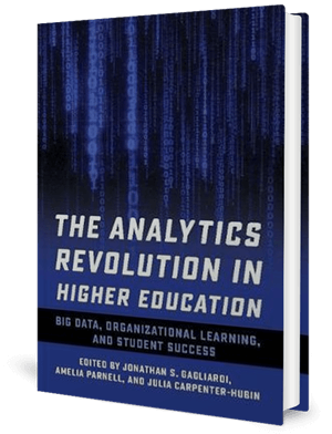 Cover of a book showing blue data streaming down