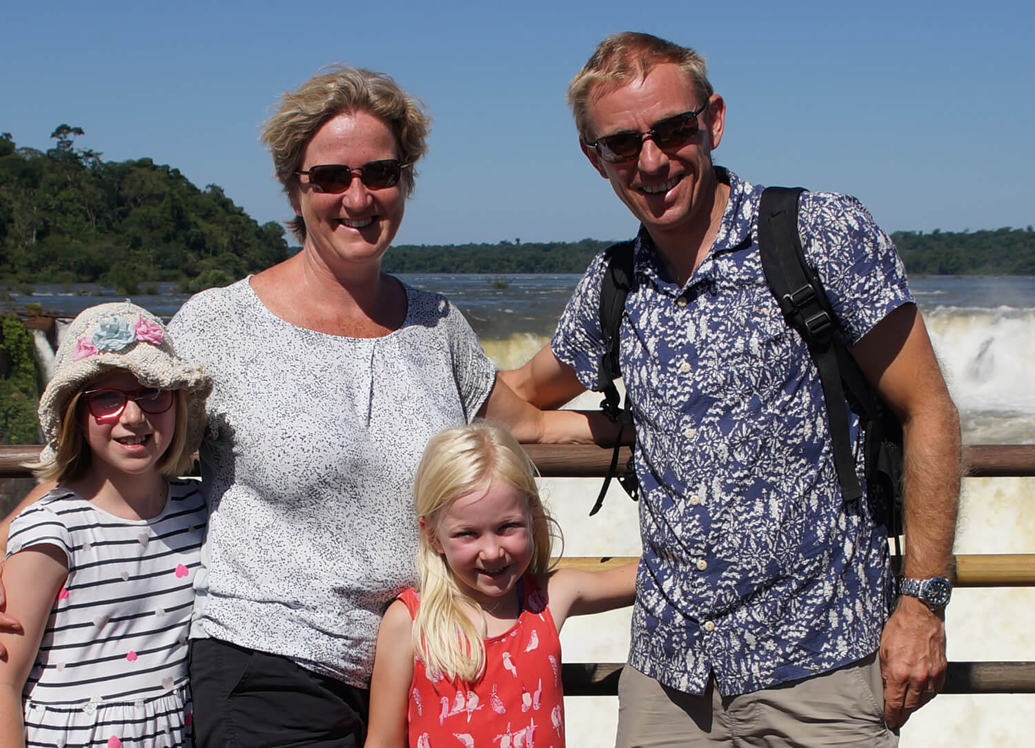 Photograph of Peter Hopwood, Altis Consulting, at the beach with his family