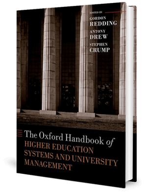Cover of a book with tall Roman columns at the front of an institution