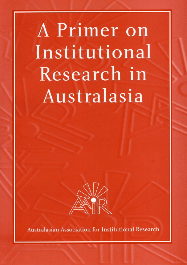 Cover of the journal called 'A Primer on Institutional Research in Australasia'