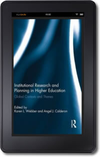 Institutional Research and Planning in Higher Education on a kindle device