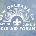 2016 AIR Forum logo with a fleur de lis
