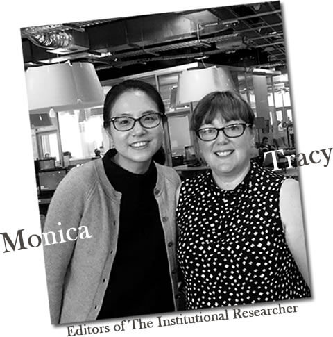Photo of Monica and Tracy, Editors of The Institutional Researcher