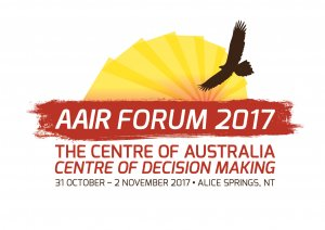 AAIR Forum 2017 logo showing a bird flying through the sun