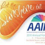 2011 AAIR Forum logo - Let the Sunshine In
