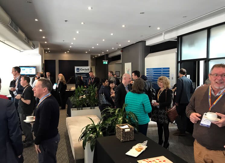 Photo of people networking at the AAIR SIG Forum 2017