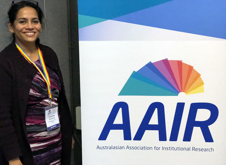 Photo of Chandra Acharya at the AAIR SIG Forum 2017