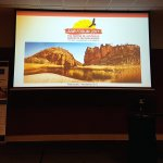 Photo of the opening powerpoint screen from the 2017 AAIR Forum in Alice SPrings