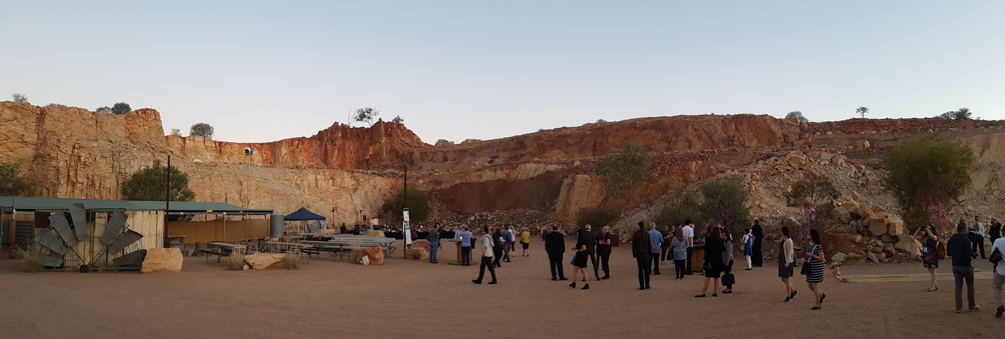 Photo of the scenery at the old quarry in Alice Springs for the Forum dinner
