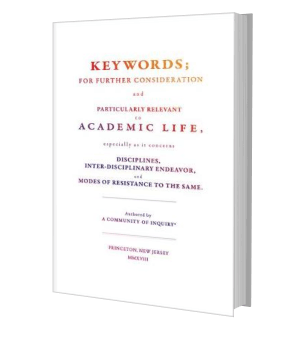 Picture of the front cover of a book: Keywords for further consideration