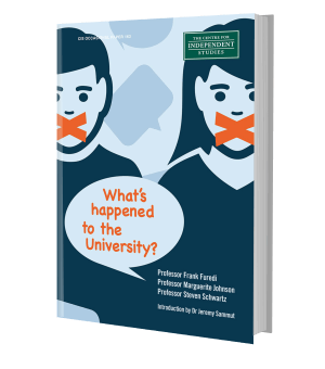 Picture of the front cover of a book: What's Happened to the University