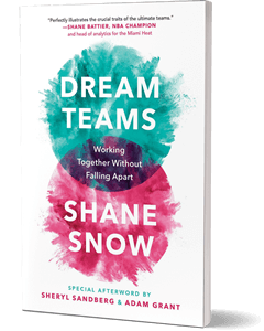Cover of a book with a blue blob and a pink blob and the title and author