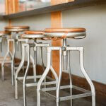 Photo of a row of bar stools