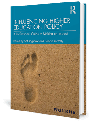 Cover of a book with a footprint in the sand