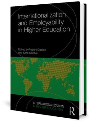 Cover of a book with a digitised map of the world in two colours