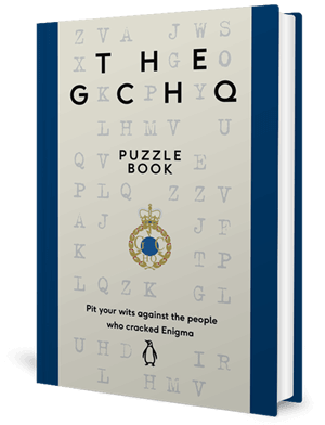 Cover of a puzzle book with letters randomly placed over it
