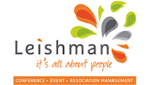 Logo of Leishman and Associates with orange, grey and green splashes coming out of the word Leishman.