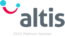 Altis logo with the words '2020 Platinum Sponsor' underneath the word altis.