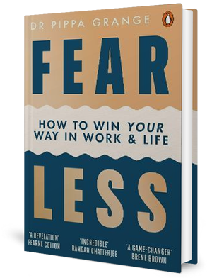 Cover of a book with the words, 'FEAR LESS' on the front.